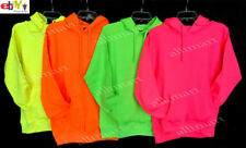 NW MEN'S PLAIN PULLOVER HOODIE JACKET SWEATSHIRTS NEON YELLOW GREEN PINK ALL SZ