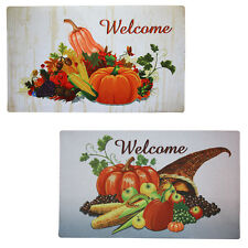 Grace Home Printing Harvest Fall Decorative Mat Indoor/Outdoor Welcome Doormat