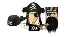 Pirate Fancy Dress Costume & Accessories -Halloween Party Dress Up Toy Sword Gun