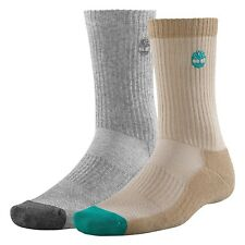 NEW Timberland Men's Crew Wheat/Gray Sock w/CoolMax® Polyester Style #J0204