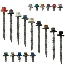 "METAL ROOFING SCREWS: #10x 2-1/2"" (250) Colored Metal Roofing Screw Siding Screw"