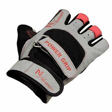 Gel Weight Lifting Body Building Gloves Gym Training Strap Leather Grip