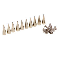 10pcs Cone Punk Rivet Metal Stud Spot Spike Screwback Leathercraft DIY for Shoes