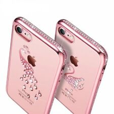 For Apple iPhone 7 Plus Silicone Shell Case 3D Jeweled Fashion Cover Transparent