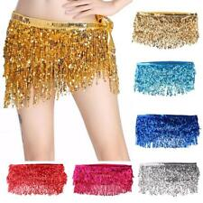 Lady's Fashion Belly Dance Waist Chain Hip Scarf with Sequins Tassel
