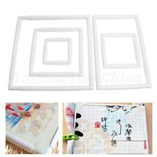 Square Cross Stitch Frame Tabletop Plastic Embroidery Snap Frame Sewing Tool