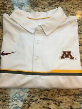 MINNESOTA GOLDEN GOPHERS ELITE POLO SHIRT-COACHES-2XL-WHITE NIKE--NWT-$80 RETAIL