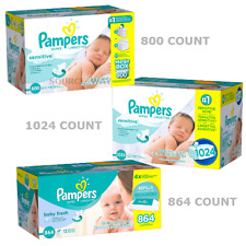 New Pampers 800-1024 count Strong & Thick Sensitive Baby Wipes (adult wet wipes)