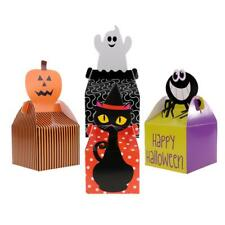 10x Happy Halloween Treat Boxes Trick Or Treat Gift Loot Candy Box Party Favour
