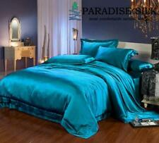 19MM Heavy Weight  Seamless Silk Sheets Fitted Flat 4pcs Bedding Set
