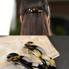 Women Chic Hair Barrette Clamp Clip Ponytail Holders Twist Spring Jewelry