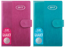 2017 Leather Slim Size Diary Week To View personal Organiser Address Book & Pen