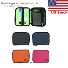 US Cable Cord Organizer Electronics Accessories USB Hard Drive Case Storage Bag