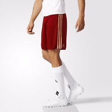 Adidas EURO 2016 Russia Home Shorts Football Soccer Men Red Gold AA0358