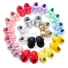 0-18M Infants Baby Fringe PU Leather Shoes Candy Soft Sole Crib Moccasin Walker