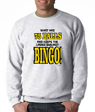 Long Sleeve T-shirt Unique What Has 75 Balls And Keeps The Ladies Smiling Bingo