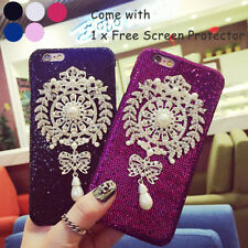 Bling Rhinestone Pearl Pendant Fashion Hard Cover CASE FOR iPhone 6S Plus 5.5