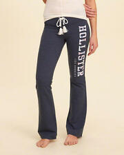 Abercrombie and Fitch Hollister Track Pants Womens Sweatpants Logo XS Navy NWT