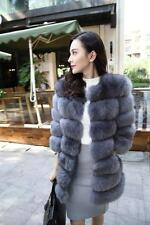 Women Fashion Long Coat Faux Fur Warm Overcoat Silm Jacket Sleeve Outwear