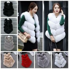 Women Winter Warm Faux Fur Vest Coat Waistcoat Ladies Slim Jacket Coat Outwear