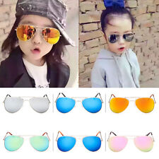Retro Children Kids Boys Girls Aviator Sunglasses Eyewear UV400 Glasses Shades 7