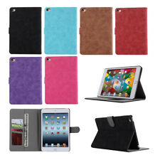 Vintage Leather Wallet Card Case For iPad 4 2 3 /Mini /Air /Pro Flip Stand Cover