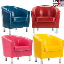 Deluxe Faux Leather Corner Sofa Single Seat Sofa Tub Arm Chair Dining Room UK