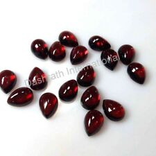 3x4mm to 10x8mm Calibrated Natural Red Garnet Pear Cabochon Red Color Gemstones