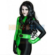 Kim Possible Shego Costume Super Villain Cosplay Women Outfit Halloween Costumes