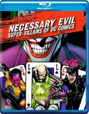 Necessary Evil Super Villains of DC Comics Blu-ray Movie Disc Free Shipping