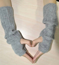 Cashmere Blend Cable Knit Long Fingerless Gloves Arm Mitten Warmer