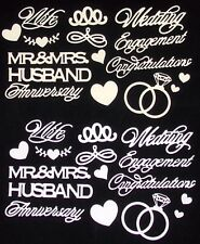 Wedding Die Cuts by Anna Griffin Mr&Mrs Engagement Ring Wife Husband 20pcs UPick