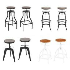 2x Industrial Bar Stool Adjustable Dining/Breakfast/Kitchen Guests Chair X0K0