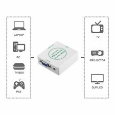 HDMI 1080P to VGA Audio HD Video Cable Converter Adapter for Projector Lot LN