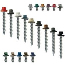 "#14 x 2"" METAL ROOFING SCREWS: Colored  Roofing and Siding Sheet Metal Screws"