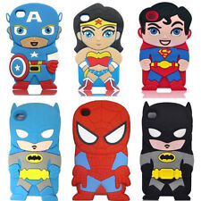 New Cartoon 3D Cute Silicon Soft Cover Case For ipod touch4 Iphone5 5S 4 4S SE