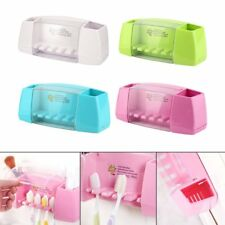 Multifunctional Toothbrush Holder Bathroom Accessory Adhesive Storage Rack CL