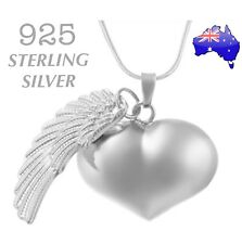 Angel Caller Heart Harmony Chime Ball Pendant 925 Sterling Silver Chain Necklace