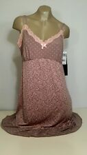 Delta Burke Twin Print Microfiber Chemise With Without Lace At Cups 1X,2X,3X NWT