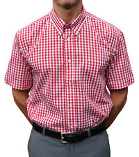 RED GINGHAM SHIRT WARRIOR SKINHEAD MOD CLOTHING SKA NORTHERN SOUL SKINS MODS