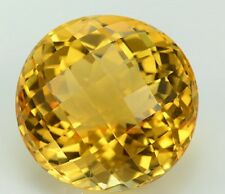 Natural Citrine Yellow Color 4mm to 10mm Round Checkerboard Cut Loose Gemstone
