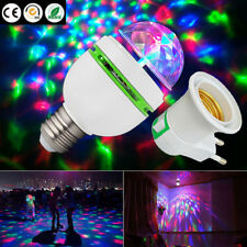 3W E27 RGB Crystal Ball Auto Rotating LED Stage Light Bulb Disco Party Lamp hold