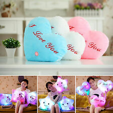 LED Bright Light Up Glowing Pillow Soft Cosy Cushion Sofa Bed Bedroom Home Decor