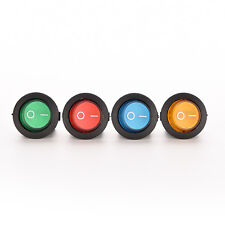 1X/4X ON/OFF LED 12V 16A DOT ROUND ROCKER SPST TOGGLE SWITCH CAR BOAT LIGHT WCY