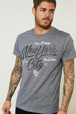 Threadbare Mens Crew Neck Tee Polyester/Cotton Short Sleeves and Graphic Print