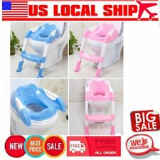 Kid Potty Training Seat with Step Stool Ladder for Child Toddler Toilet Chair US