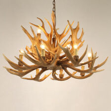 Classic 2-Tier Resin Antler Whitetail Branch 12-Light Large Candle Chandelier