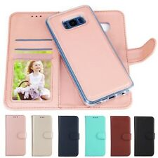 Flip Magnetic Leather+Rubber Removable Wallet Case Cover For Samsung Galaxy    E