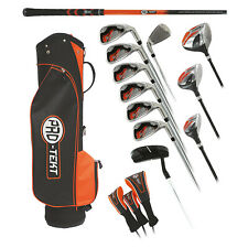 Pro-Tekt Mens Complete Golf Package Set Golf Clubs Cart Bag 5-SW Full Right Hand