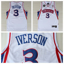 Allen Iverson 3 Philadelphia 76ers Rookie Jersey 1996-97 Throwback Swingman RARE